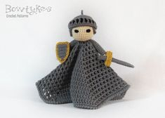 Noble Knight Lovey CROCHET PATTERN instant download - blankey, blankie, security…