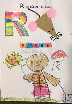 Atividade trabalhando a letra R a partir do nome da criança, associando a sua inicial à de um animal.