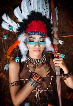 Maquillage indienne d'Amérique en 40 idées inspirées par la peinture de guerre