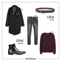 Klasyczne trzewiki Wojas (429250) oraz dwustronny pasek (597751) świetnie sprawdzą się w połączeniu z dżinsami, swetrem w odcieniu burgundu oraz modnym płaszczem. Polecamy!