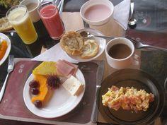 eating food! (this is a breakfast in ecuador)