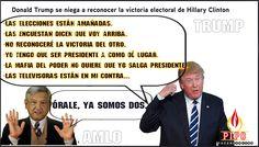 Donald Trump se niega a reconocer la victoria electoral de Hillary Clinton
