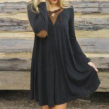 2016 Nieuwe mode bohemian jurk 2016 sexy dames jurk lady vrouwen losse jurk…