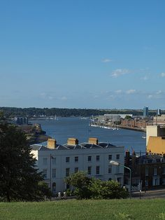 The medway from Fort Pitt Hill Rochester Kent