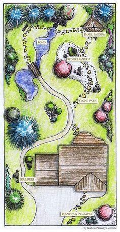 Complex garden plan – GardenPuzzle – online garden planning tool