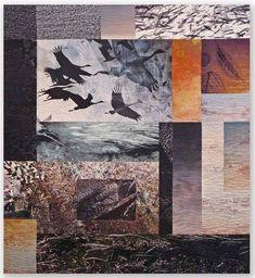Superbe quilt, par Michael James http://michaeljamesstudioquilts.com/portfolio/wanderings/1