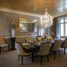 classy and luxurious dining Transitional Dining Room Inspo