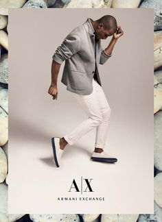 Adonis Bosso by Cass Bird for Armani Exchange Summer 2015