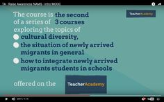 This is my second Learning Diary for the second MOOC on the topic of migrants.
