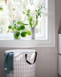 ferm LIVING bathroom accessories - Grid Laundry Basket and Organic Cotton Bath Towel: http://www.fermliving.com/webshop/shop/bathroom.aspx