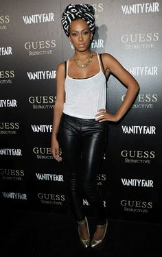Solange Knowles! Doesn't get much better than that...love the head wrap