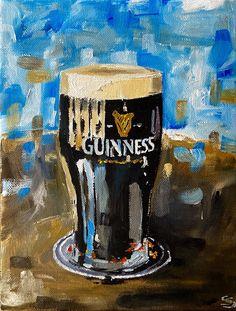 Pint of Guinness original oil painting Pub cellar decor Ireland Fashion, Beer Art, Farm Art, People Art, Guinness, Cellar, Oil Painting On Canvas, Art Projects, Art Gallery