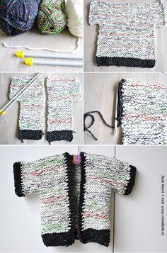 Eenvoudig babyvestje maat 68 breien voor beginners patroon. Ik geloof dat ik dit ook wel kan!