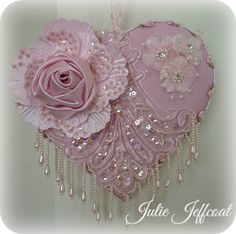 **Pink Applique Heart!