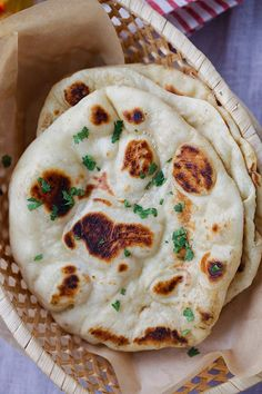 Naan - the easiest homemade Indian naan recipe that you can make on skillet. Fluff and soft naan that tastes like Indian restaurants from @rasamalaysia