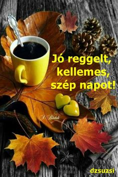 Pin by manfred ka on herbst Autumn Tea, Autumn Coffee, Autumn Morning, Autumn Leaves, Good Morning Coffee, Coffee Break, Happy Morning, Autumn Scenery, I Love Coffee