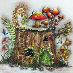 Colorirfazbem Livrosdecolorir Jardimsecreto Florestaencantada Colorindoficoutop Muitotop Verytop Colorir Amocolorir Viciadonisso Viciodobem