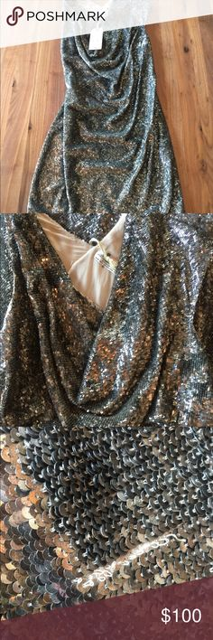 All Saints Sequin Scoop Neck Dress Never Worn Never worn. Tags on. Some missing sequins. Heavy. All Saints Dresses Mini