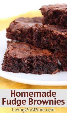 Homemade Fudge Brownies Recipe