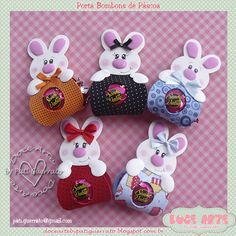 Doce Arte by Pati Guerrato Foam Crafts, Diy And Crafts, Crafts For Kids, Arts And Crafts, Paper Crafts, Hoppy Easter, Envelope, Bunny, Wraps