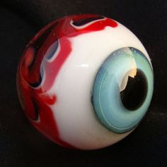 "Contemporary borosilicate ""eye"" marble by artist Casey Patricio"