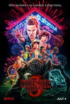 Netflix releases a brand new Stranger Things season 3 poster exactly one month before it's set to hit the streaming platform on July Stranger Things Netflix, Stranger Things Saison 1, Poster Stranger Things, Stranger Things Tumblr, Eleven Stranger Things, Stranger Things Monster, Stranger Things Stuff, David Harbour Stranger Things, Stranger Things Season One