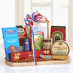 Good Eats Gourmet Gift - Take this delicious Gourmet Gift on the All-America Road trip and enjoy as a retro roadside picnic!  - http://giftbasketblessings.com/product/good-eats-gourmet-gift/
