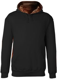 badger adult athletic fleece camo accent hooded sweatshirt - black   force  (xs) 4295fcdbbb8