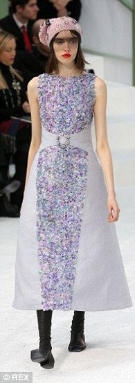 Step into spring: The catwalk was full of floral prints and pastel hues as Karl's vision was realised