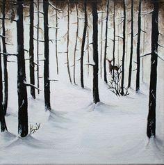 Arcyl on canvas 20x20 'Winter landscape'