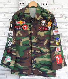 Patched Camo Jacket / Hand Reworked by KodChaPhornJacket465