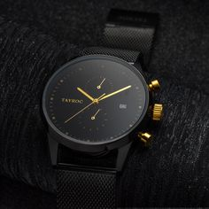 Our greatest design yet, The sleek all black style with the gold dials to set it off gives the TXM087 the perfect look.