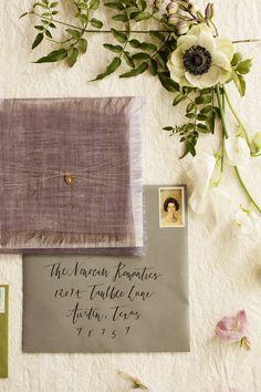 Spring Lavender Wedding Invitations // by The Nouveau Romantics // Photo by Heather Curiel