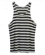 One Teaspoon - Chalet Stripe Tank black and white stripe tank top casual basic style