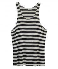 One Teaspoon - Chalet Stripe Tank black and white stripe tank top casual basic style