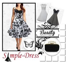 """""""Simple-Dress 9"""" by gabriela-spahic22 ❤ liked on Polyvore featuring vintage"""
