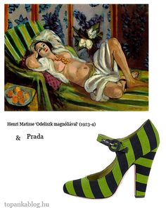 Painting by Henri Matisse, shoes by Prada