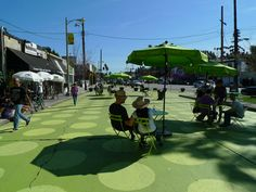 The first pavement to plaza in Los Angeles. (right in my old neighborhood!)