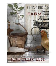 """Farm Fresh Eggs"" by thewondersoffashion ❤ liked on Polyvore featuring interior, interiors, interior design, home, home decor, interior decorating, Courtside Market, Murmur, Pottery Barn and interiordesign"