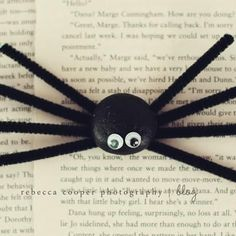 Silly Stone Spiders {Halloween How To}  Great craft for classroom party Halloween Moon, Halloween Crafts For Kids, Halloween Spider, Halloween Activities, Spirit Halloween, Holidays Halloween, Easy Halloween, Kid Activities, Fall Crafts
