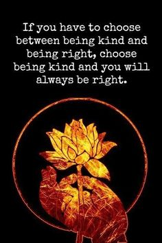 Being kind is always the right way to go.