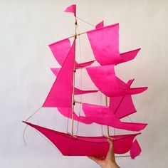 Each handmade kite really flies and is made in collaboration with Balinese artisans from locally-sourced bamboo and nylon. Though functional, the ship kites also can be displayed indoors as a beautifu