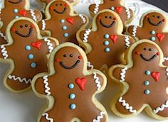 Cute Gingerbread Men Sugar Cookies. My daughters and I have to make these cuties!