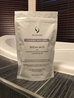 Araman Calming Bath Soak - Epsom Salts with Pure Essential Lavender Oil Lavandula Angustifolia, Bath Soak, Epsom Salt, Lavender Oil, Pure Essential Oils, Salts, Calming, Pure Products, Bath Salts