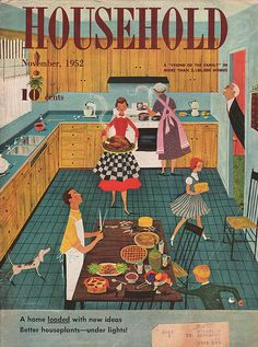 1952 cover, Household magazine(Better houseplants under lights - thought that was illegal)