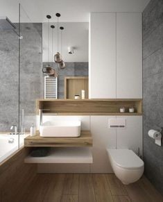 Luxury Bathroom Ideas is extremely important for your home. Whether you pick the Luxury Bathroom Master Baths Marble Counters or Luxury Bathroom Master Baths Wet Rooms, you will create the best Small Bathroom Decorating Ideas for your own life. Modern Bathroom Design, Bathroom Interior Design, Washroom Design, Modern Bathtub, Modern Design, Kitchen Design, Kitchen Ideas, Kitchen Interior, Toilet Design
