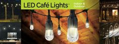 Indoor and Outdoor Cafe String Lights for Porch, Patio and Outdoor Lighting Outdoor Cafe, Outdoor Spaces, Indoor Outdoor, Love Cafe, Product Offering, String Lights, Outdoor Lighting, Diy Tutorial, Guest Room