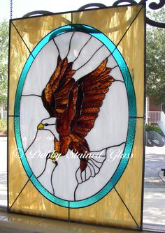Stained Glass Panel - Southwestern Eagle