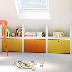 Attic Bedroom Storage, Attic Bedrooms, Bedroom Loft, Kids Bedroom, Small Attic Room, Attic Spaces, Cabin Bunk Beds, Loft Room, Attic Renovation