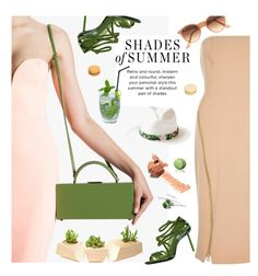 """""""Green Summer"""" by ansev ❤ liked on Polyvore featuring River Island, Ray-Ban, Melissa and Indego Africa"""